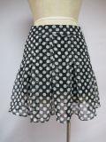 Mini habillement noir de femmes de jupe de danse de loisirs de Blanc-Points