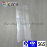 Bolso lateral transparente blanco del empaquetado plástico del vacío del escudete