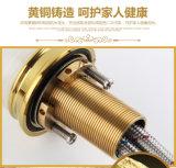 Misturador de lavatório de bronze de jade Zf-704 de novo design