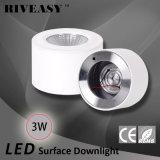 luz blanca montada superficie de Downlight de la MAZORCA de 3W LED