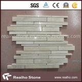 Preiswerte Streifen-Muster-Marmor-Mosaik-Fliesen für Badezimmer-und Küche-Wand