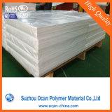 Белый лоснистый лист PVC твердый для абажура, белого материала абажура PVC