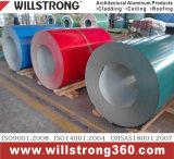 Катушка покрынная цветом алюминиевая для строительного материала