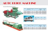 Ecnomic Auto Brick Machine (찰흙)