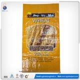 Sac de polypropylène tissé par blé de farine de riz de la bonne qualité 25kg 50kg