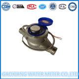 Multi medidor de água do pulso do aço inoxidável do jato