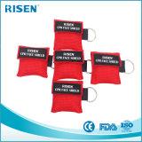 Kundenspezifischer Firmenzeichen-Mund Mouth CPR-Gesichts-Schild CPR-Schablone Keychain