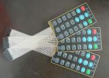 Personalizada en relieve táctil interruptor de membrana con el polaco embotado