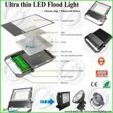 Luz de inundación impermeable al aire libre de la lámpara de reflector de IP65 LED 80W LED