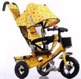Die Räder des Stab-drei drücken, die reiten Spielwaren-Kinder Trike intelligentes Dreirad (OKM-902)