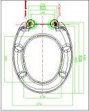 Siège des toilettes d'uF de forme ronde d'uF avec le ralentissement
