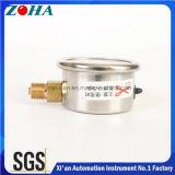 1.5 Inch/40mmアラームのための最下の半分Ssのオイルの満たされた圧力計の小型タイプ着色されたダイヤル