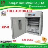 Incubateur automatique approuvé d'oeufs de poulet de la CE pour 528 oeufs