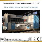 홈을 파기 인쇄하는 완전히 자동적인 4 색깔은 기계를 견장을 달기로 접착제로 붙이는 절단을 정지한다