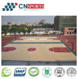 Revestimento de madeira do campo de jogos do esporte da textura para assoalho interno/ao ar livre do basquetebol