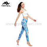 Moda Yoga Long Leggings Mulheres Sport Calças compridas Fitness Wear Compression Gym Pants