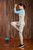 女性の汗ヨガのTシャツの適性の連続した練習のティーの体操のスポーツ・ウェア