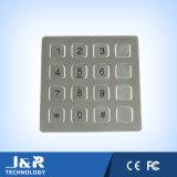 Teclado liso do telefone do aço inoxidável, teclado do telefone de 16 chaves, teclado do telefone público