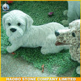 Mano Carved Granite Guardian Dog Sculpture per il giardino