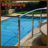 Barandilla del acero inoxidable en el pasamano del cable para la piscina (SJ-X1004)
