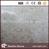 Nueva losa de mármol amarillenta blanca Polished de Rose con la losa/el azulejo de suelo