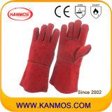 Rouge Peau de vache Split en cuir Gants de sécurité industrielle les travaux de soudage (111032)