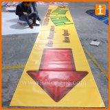 Kundenspezifische im Freienbelüftung-Vinylflexvinyldrucken-Fahne