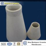 Tubos de cerámica del alúmina abrasivo resistente a los choques para la tubería de la mezcla de la ceniza