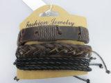 Braccialetto di cuoio Handmade, accessori di modo stabiliti del braccialetto di cuoio degli uomini