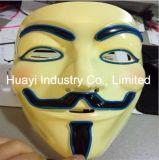 Iluminar acima a máscara Holloween dos fios do EL