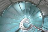 Escadarias de vidro curvadas o melhor preço com escadaria espiral de vidro curvada do trilho/a de vidro