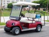Carrello elettrico rosso della spola di golf di 2 Seater