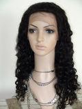Do cabelo brasileiro de Remy da alta qualidade peruca cheia Curly do laço