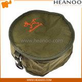 Lona que dobra o saco dobrável da bacia da água do alimento de gatos do cão do curso