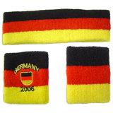 Deutscher Baumwollterry-Wristband und Stirnband