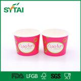 Joghurt-Papierfilterglocke-Eiscreme, die Gelato Papiercup verpackt