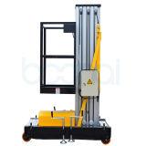 Plataforma de trabajo aéreo manual de la elevación de la aleación de aluminio (altura máxima los 9m)