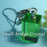 Cristal 3D Keychain verde (ND3086)