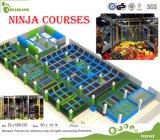 Kundenspezifischer Ninja Kurs-lustiger Trampoline-Park für Verkauf