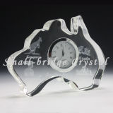 Reloj de tabla cristalino del Au (BJ0061)