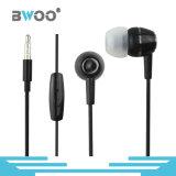 Precio de fábrica estéreo de 3,5 mm en la oreja los auriculares para el micrófono