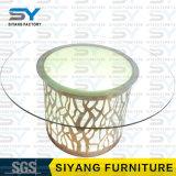 Tisch-Möbel-ausgeglichenes Glas-Spitzenspeisetisch mit Edelstahl