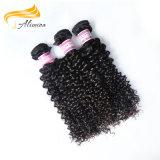 工場価格自然なカラー100実質のバージンのブラジル人の毛