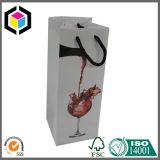 Bolso de empaquetado de papel del solo de la botella regalo del vino con la maneta