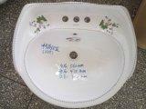 Lavatório de cerâmica com pedestal de lavatório moderna popular