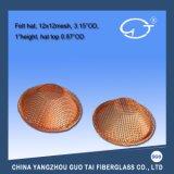Acoplamiento de aluminio fundido del filtro de la fibra de vidrio del agua de la forma del sombrero