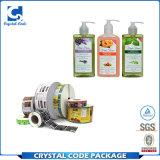 Contrassegno liquido adesivo impermeabile su ordinazione dell'autoadesivo della bottiglia dello sciampo