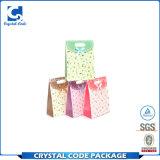 Bolsa de papel impermeable plegable colorida reutilizable del azúcar