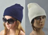 メンズレディース男女兼用の二重層のリバーシブルはキャップする固体スキー暖かい冬によって編まれるスケートで滑る帽子の帽子(HW407)を
