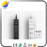 3 Anschluss 3 USB-Kanal-Anti-Elektrisches Schlag Childern Sicherheits-Energien-Streifen-Extensions-Netzkabel